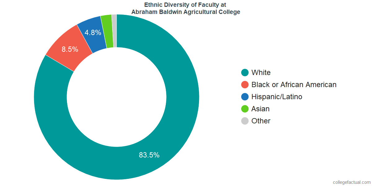 Ethnic Diversity of Faculty at Abraham Baldwin Agricultural College