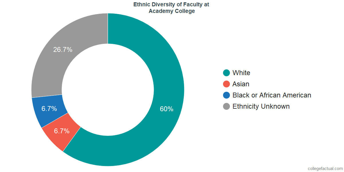 Ethnic Diversity of Faculty at Academy College