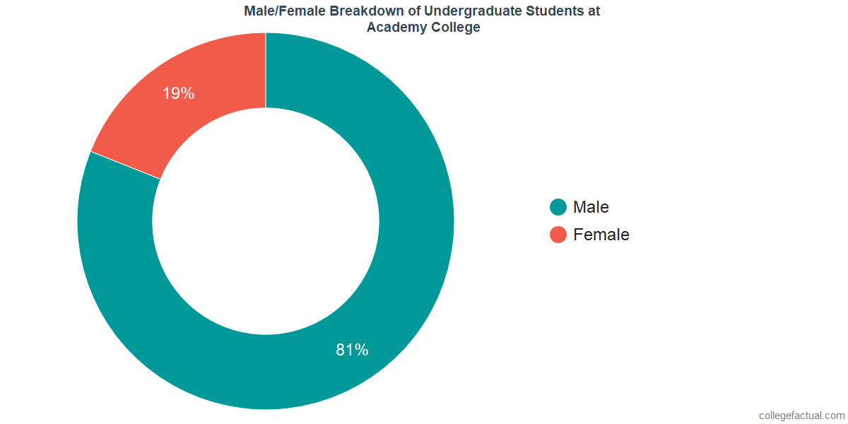Male/Female Diversity of Undergraduates at Academy College