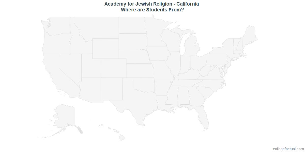 Undergraduate Geographic Diversity at Academy for Jewish Religion - California