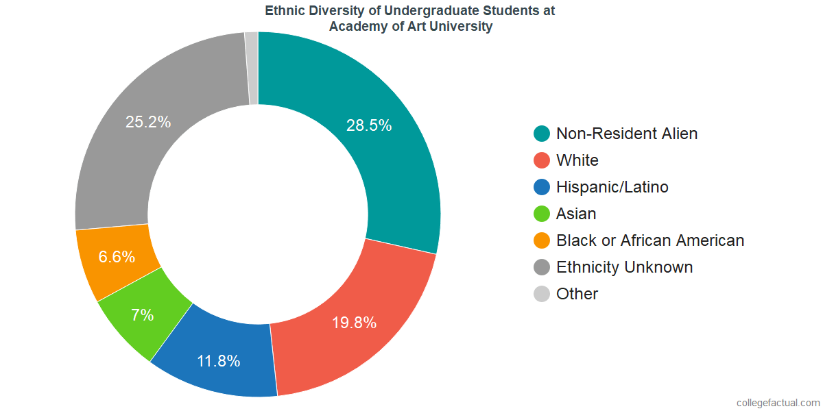 Ethnic Diversity of Undergraduates at Academy of Art University
