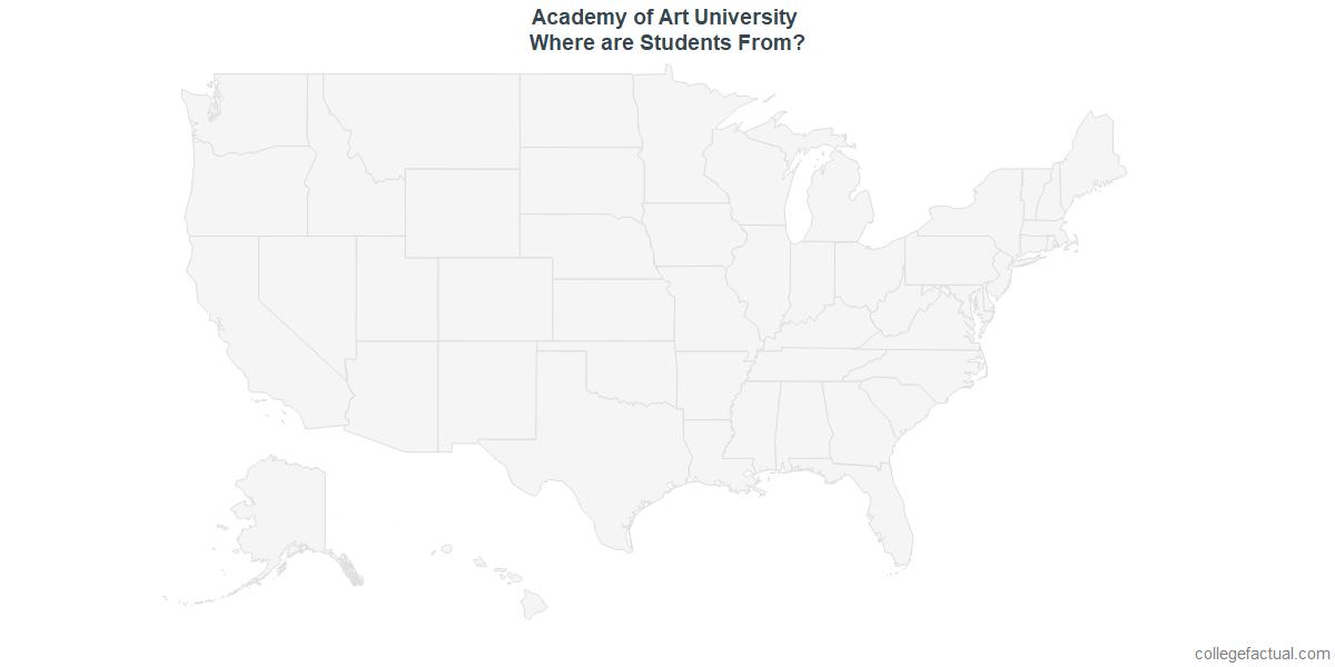 Undergraduate Geographic Diversity at Academy of Art University