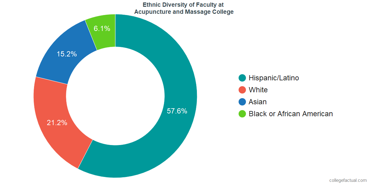Ethnic Diversity of Faculty at Acupuncture and Massage College