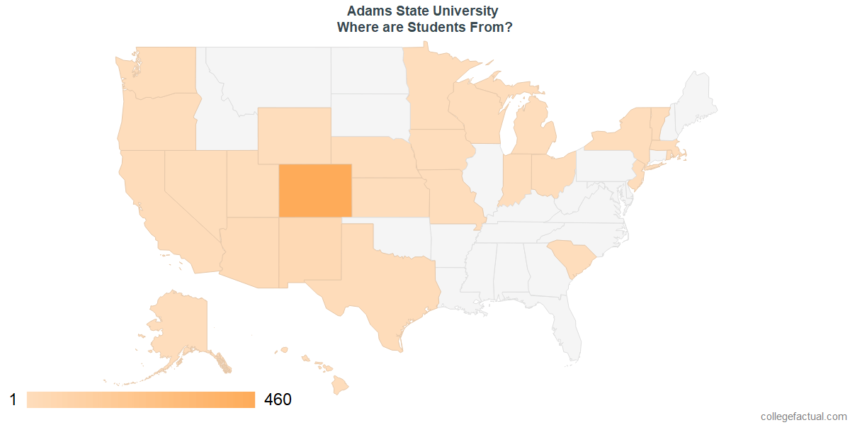 What States are Undergraduates at Adams State University From?