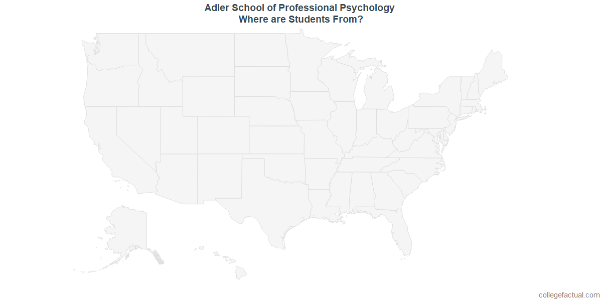 Undergraduate Geographic Diversity at Adler School of Professional Psychology