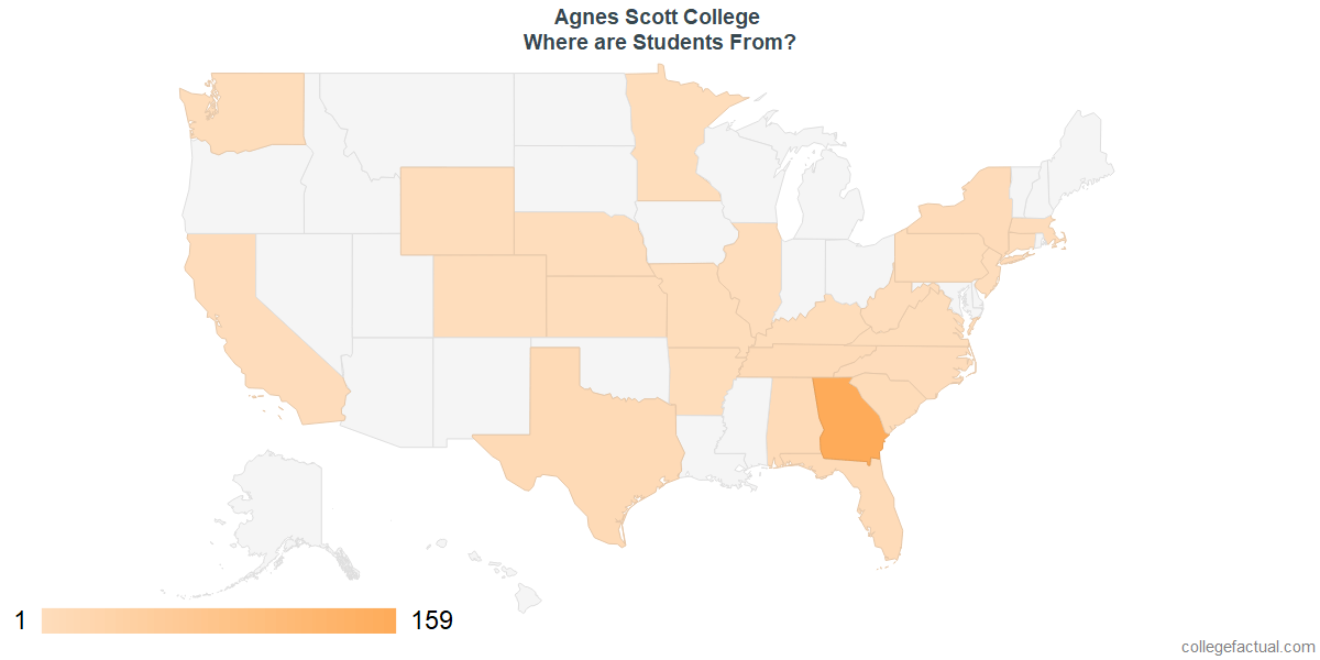 What States are Undergraduates at Agnes Scott College From?