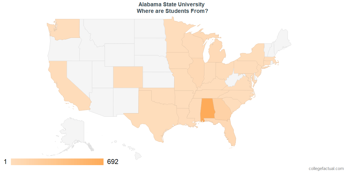What States are Undergraduates at Alabama State University From?