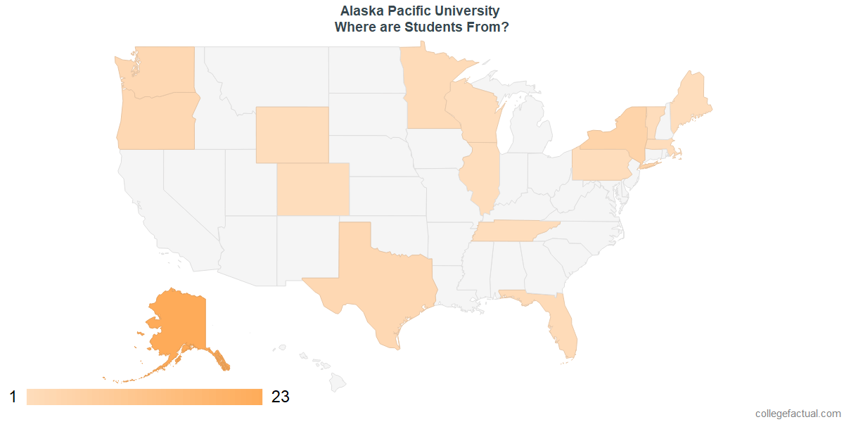 Undergraduate Geographic Diversity at Alaska Pacific University
