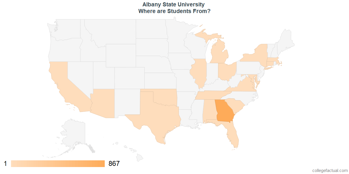 What States are Undergraduates at Albany State University From?