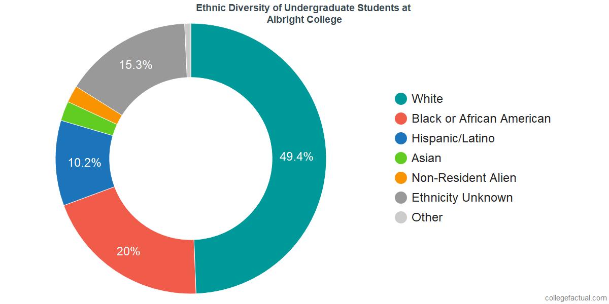 Undergraduate Ethnic Diversity at Albright College