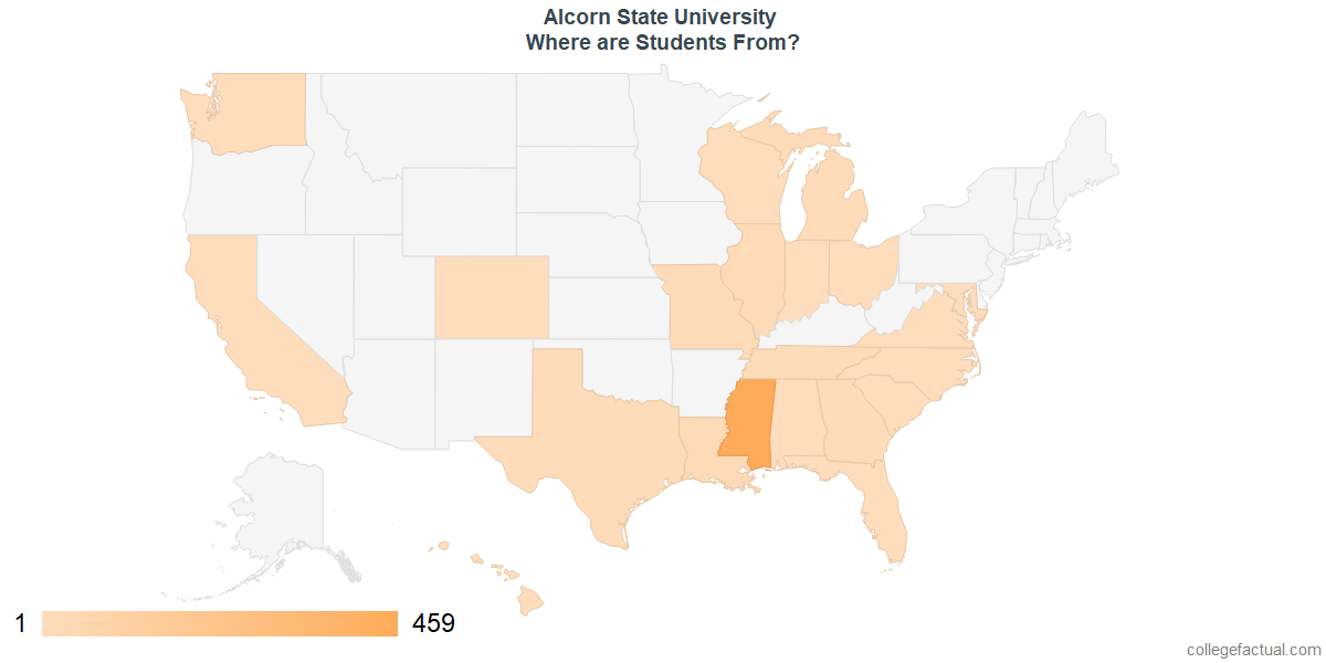 What States are Undergraduates at Alcorn State University From?