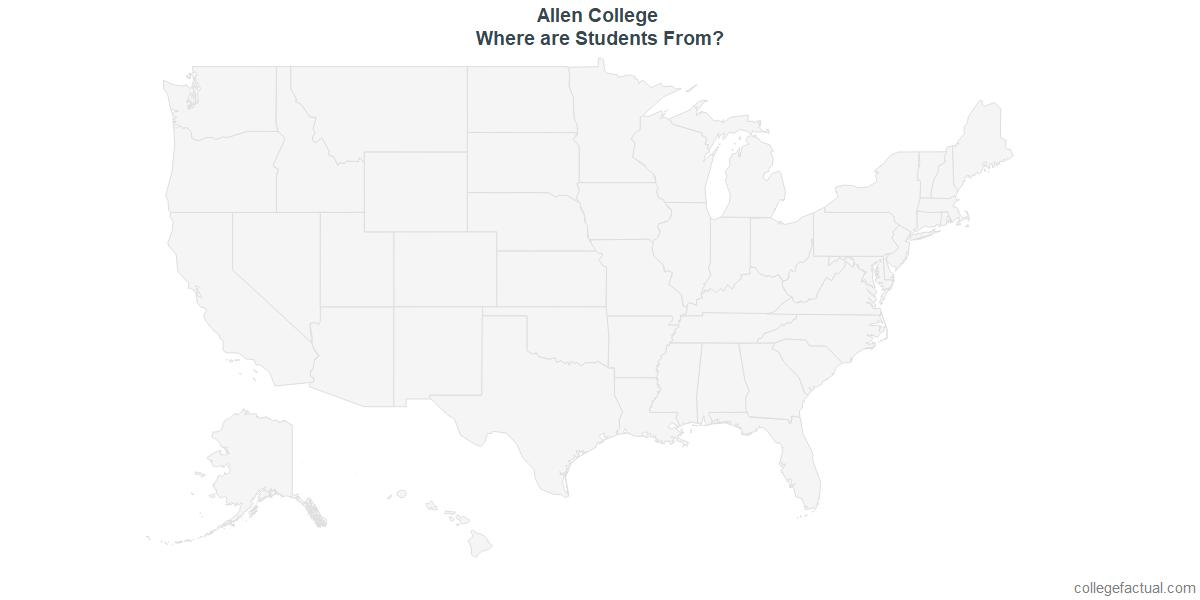Undergraduate Geographic Diversity at Allen College