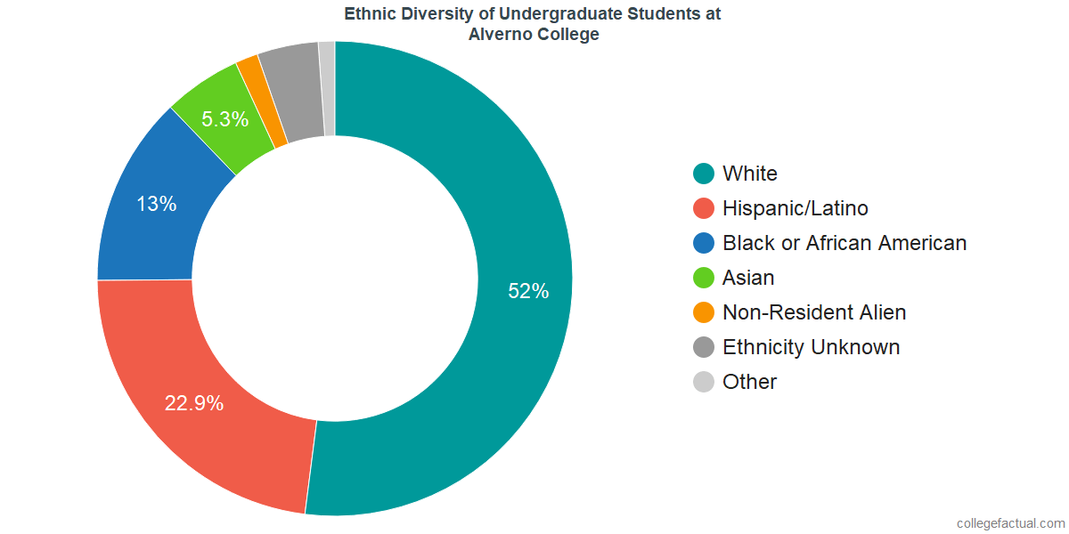 Ethnic Diversity of Undergraduates at Alverno College