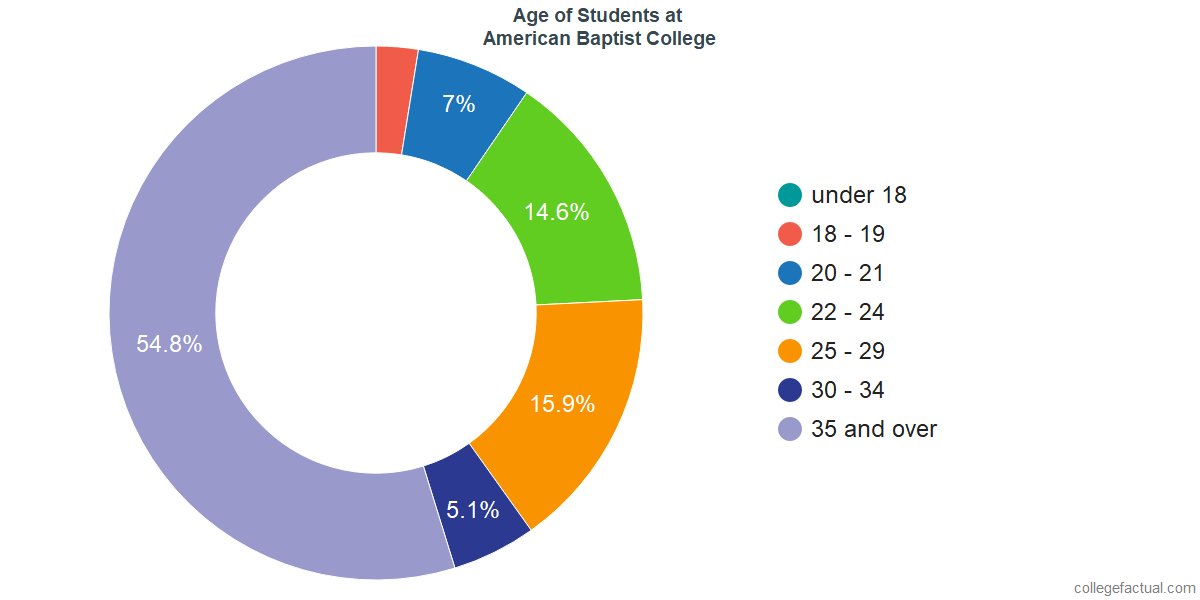 Age of Undergraduates at American Baptist College