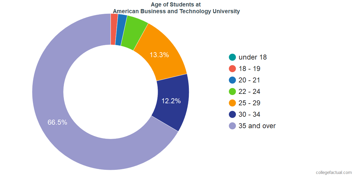 Age of Undergraduates at American Business and Technology University