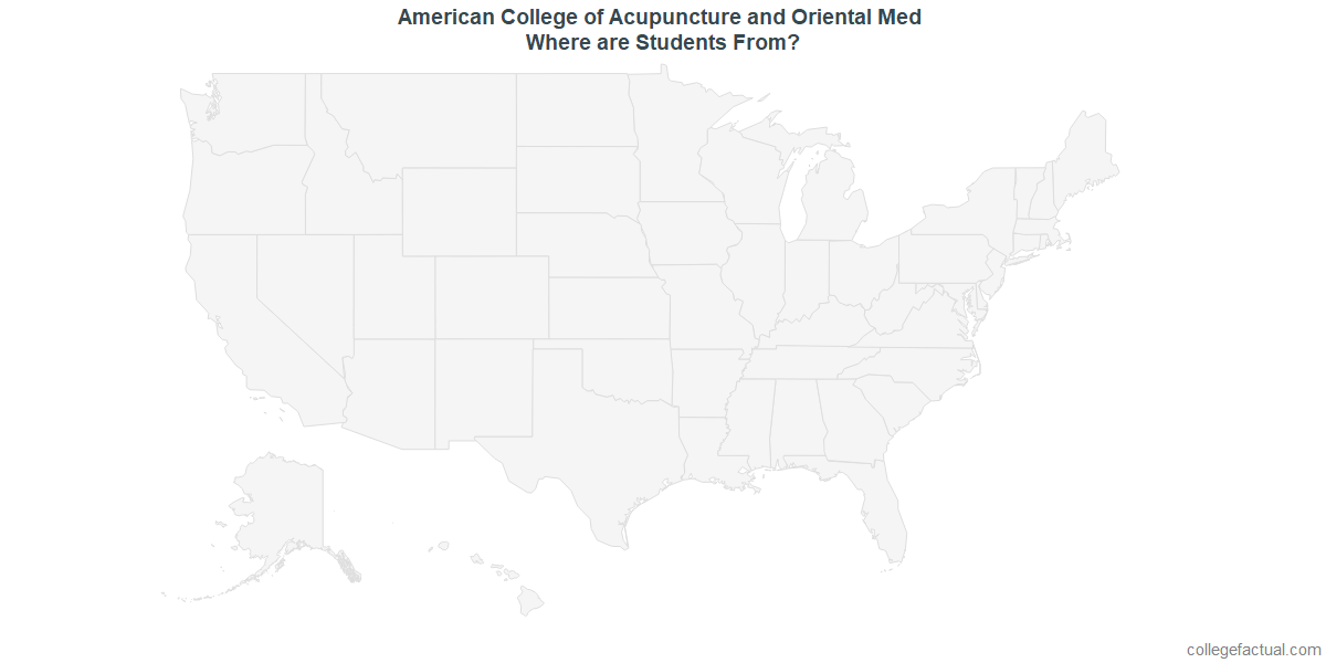 Undergraduate Geographic Diversity at American College of Acupuncture and Oriental Med