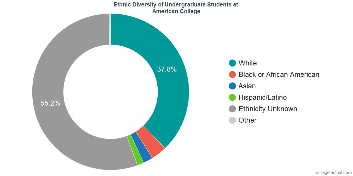 Ethnic Diversity of Undergraduates at American College of Financial Services