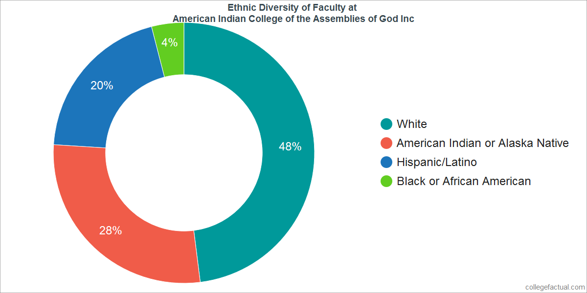 Ethnic Diversity of Faculty at American Indian College of the Assemblies of God Inc