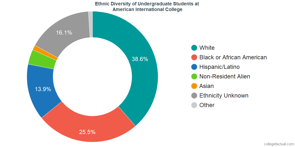 Ethnic Diversity of Undergraduates at American International College