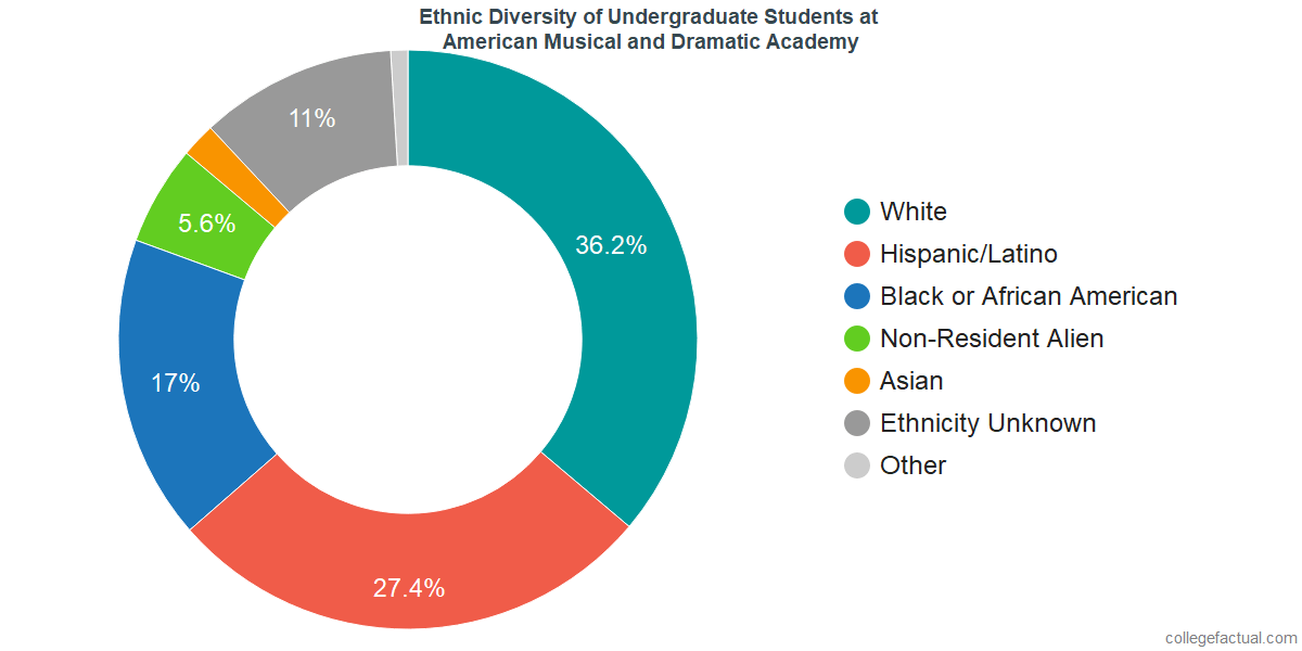 Ethnic Diversity of Undergraduates at American Musical and Dramatic Academy