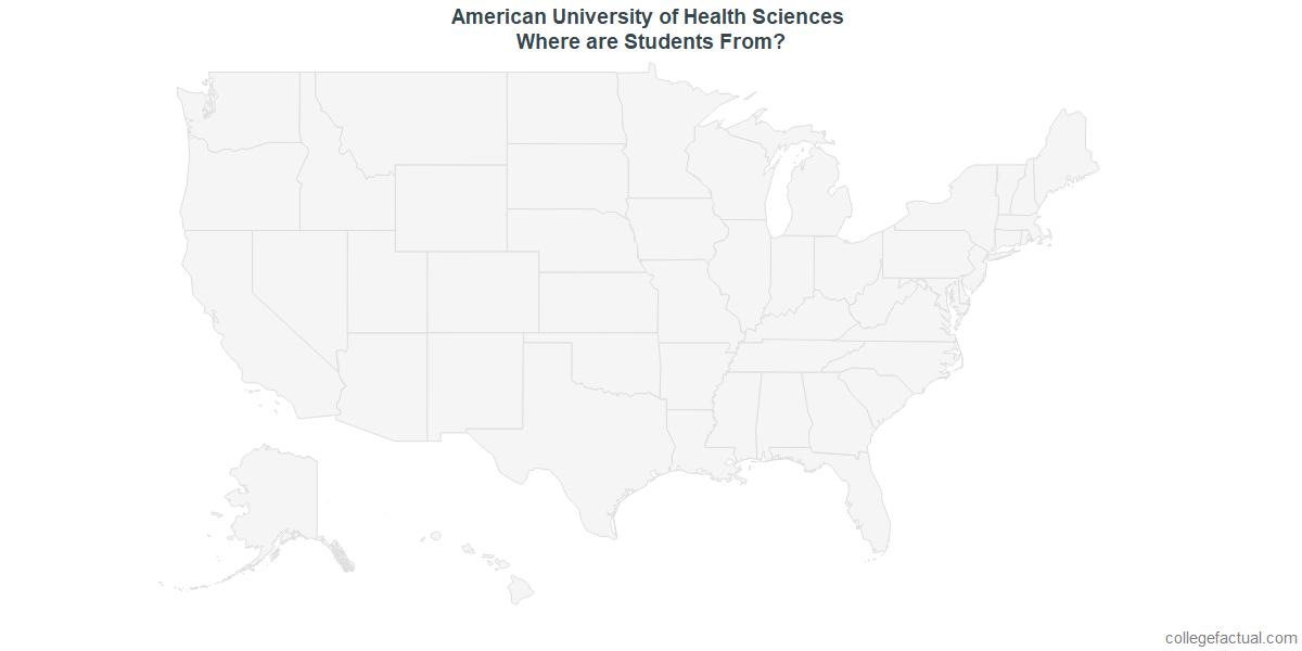 Undergraduate Geographic Diversity at American University of Health Sciences