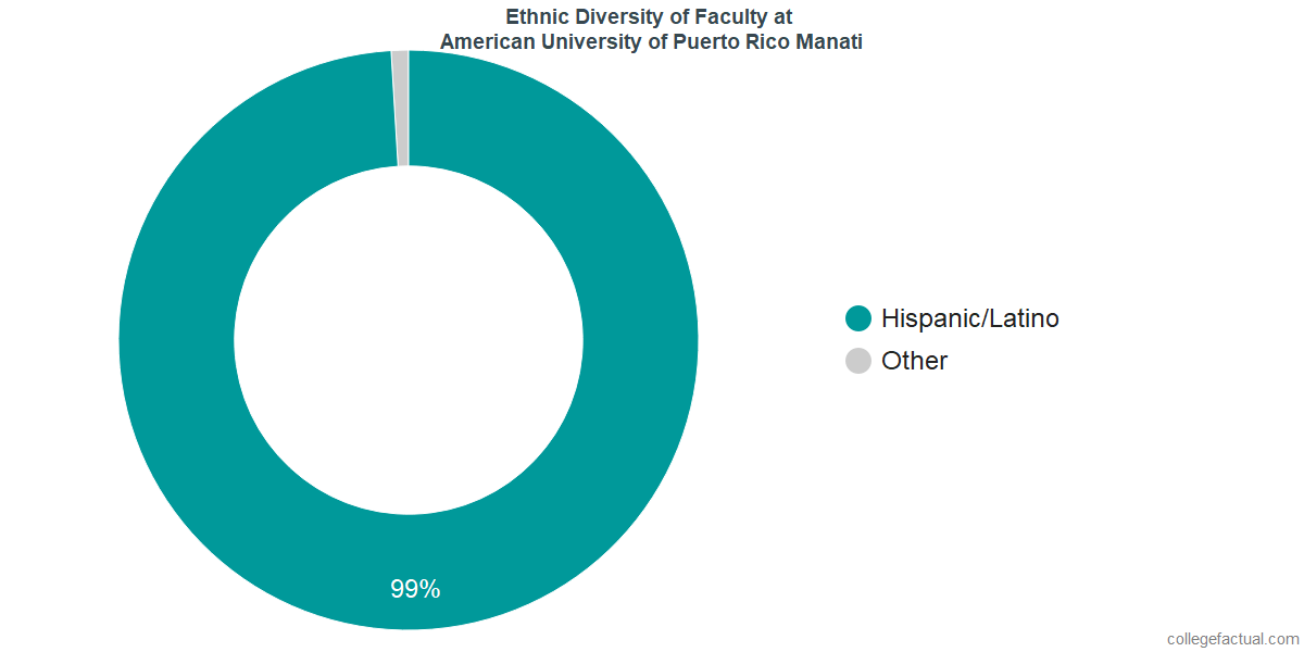 Ethnic Diversity of Faculty at American University of Puerto Rico Manati