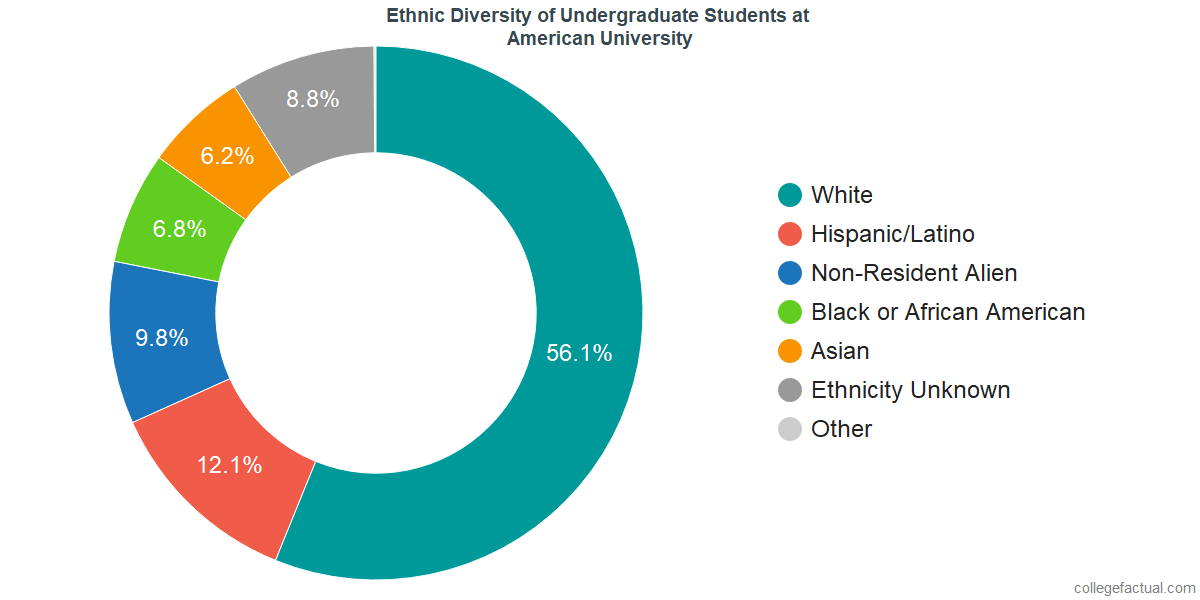 Ethnic Diversity of Undergraduates at American University