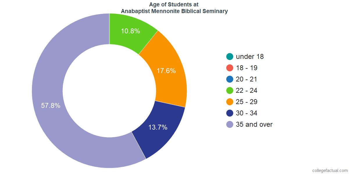 Age of Undergraduates at Anabaptist Mennonite Biblical Seminary