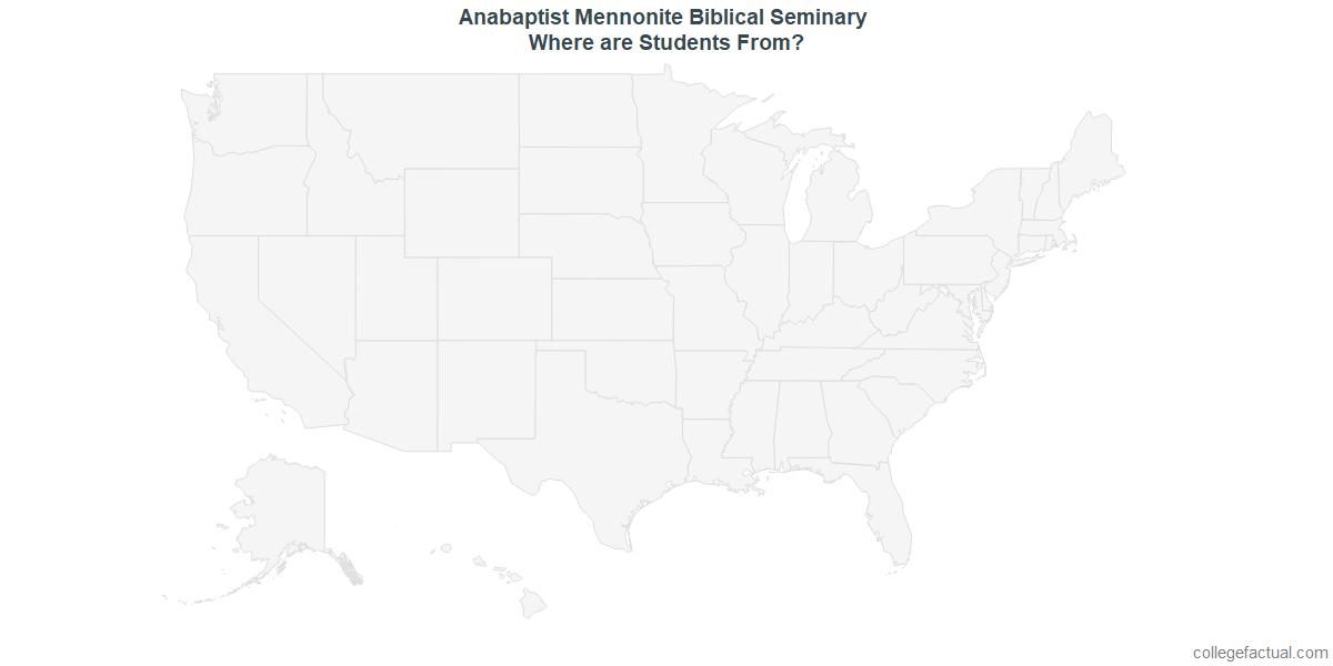 Undergraduate Geographic Diversity at Anabaptist Mennonite Biblical Seminary