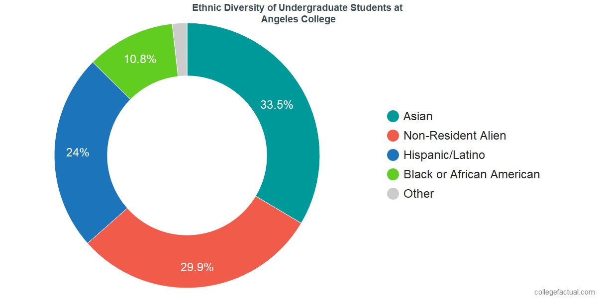 Ethnic Diversity of Undergraduates at Angeles College