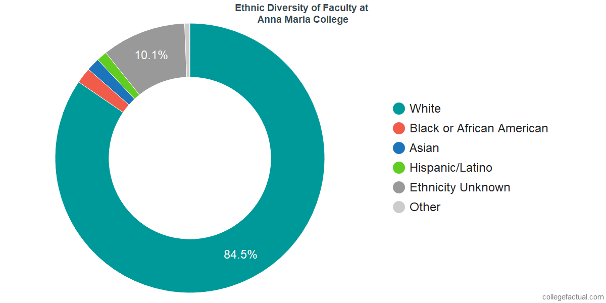 Ethnic Diversity of Faculty at Anna Maria College