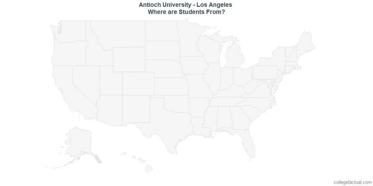 Undergraduate Geographic Diversity at Antioch University - Los Angeles