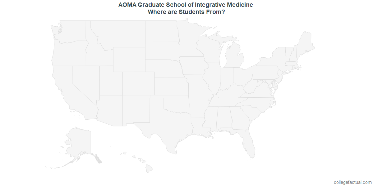 Undergraduate Geographic Diversity at AOMA Graduate School of Integrative Medicine