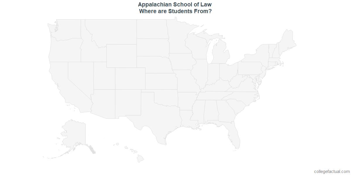 Undergraduate Geographic Diversity at Appalachian School of Law