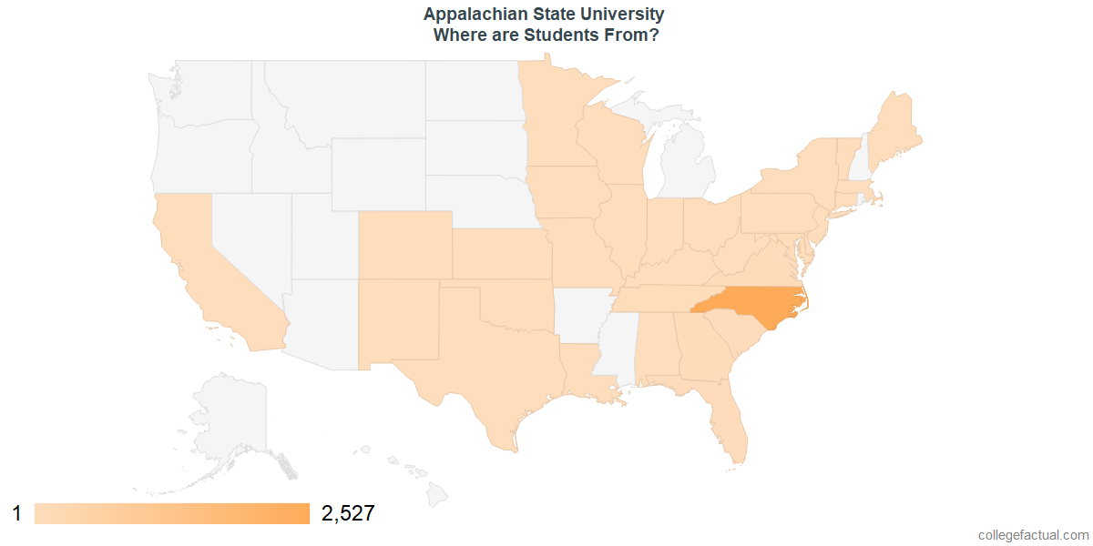 What States are Undergraduates at Appalachian State University From?