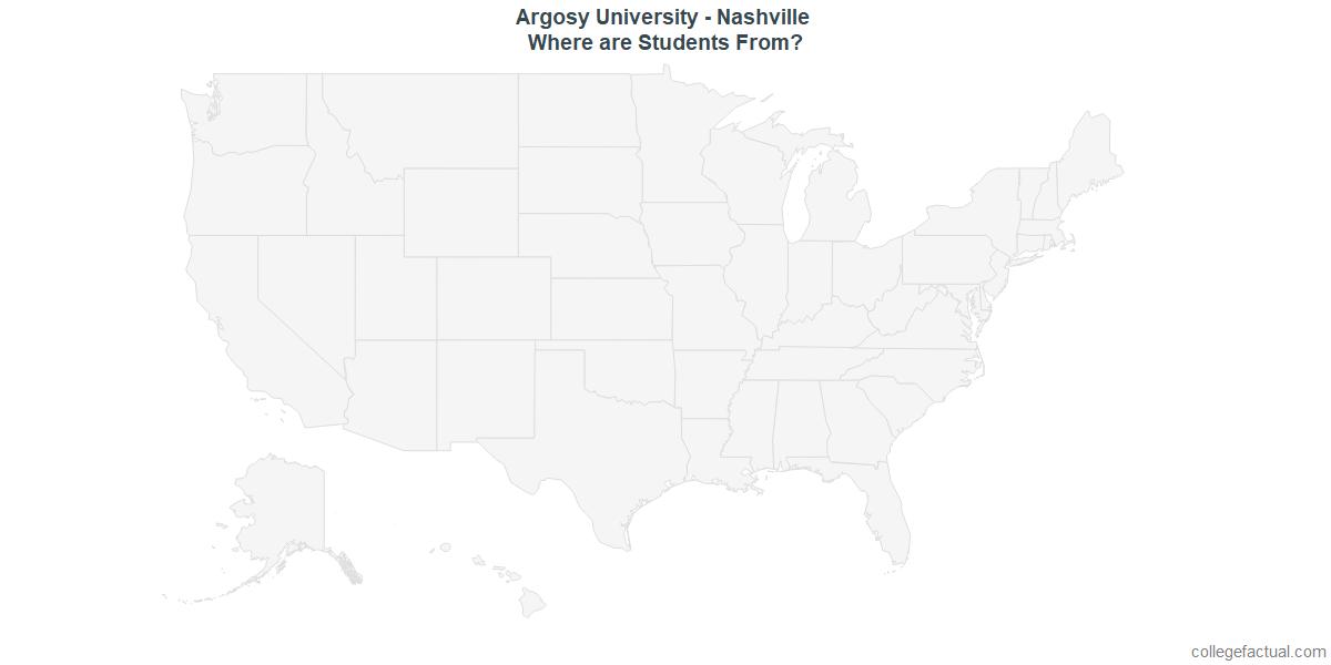 Undergraduate Geographic Diversity at Argosy University - Nashville