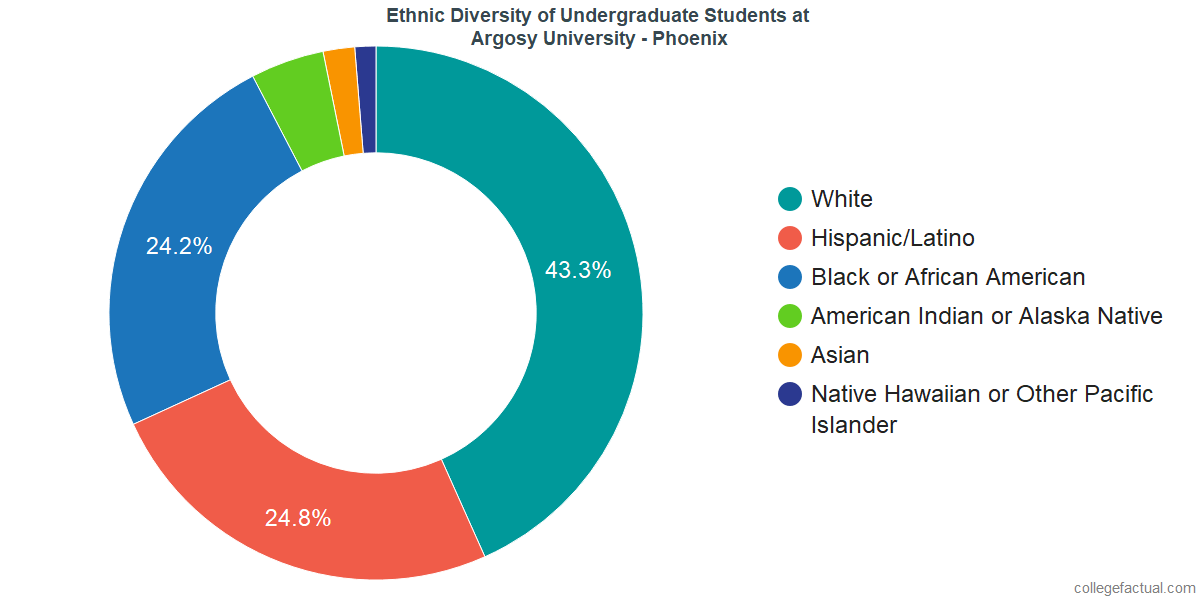 Ethnic Diversity of Undergraduates at Argosy University - Phoenix
