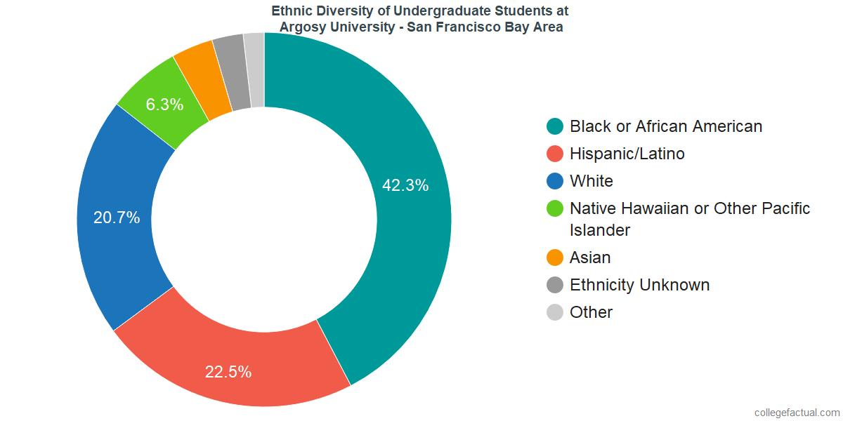 Undergraduate Ethnic Diversity at Argosy University - San Francisco Bay Area