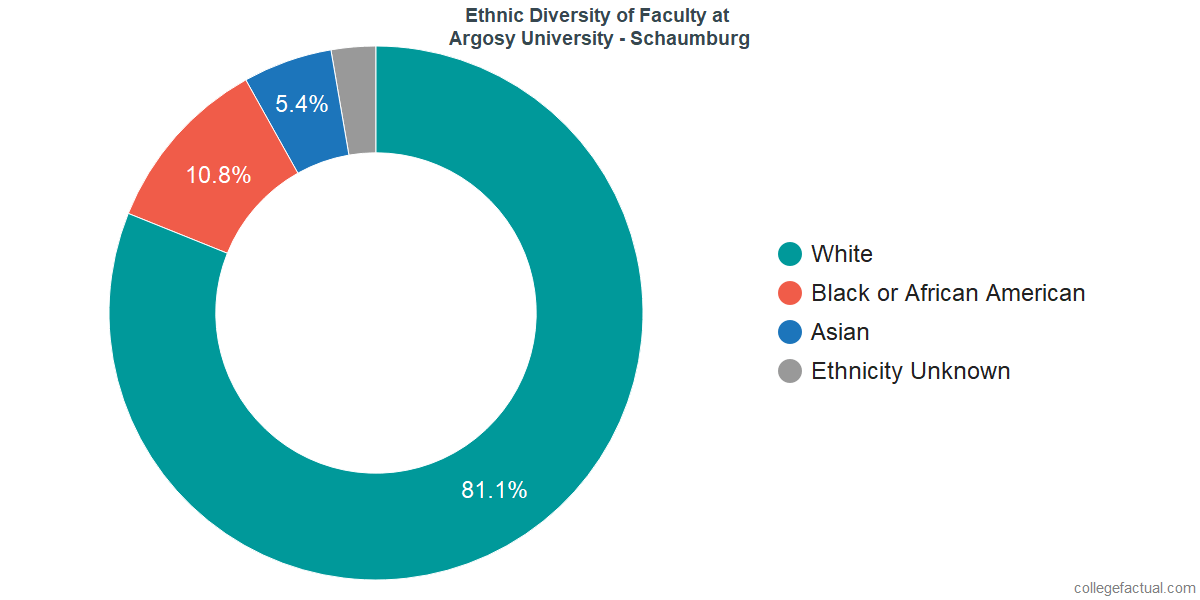 Ethnic Diversity of Faculty at Argosy University - Schaumburg