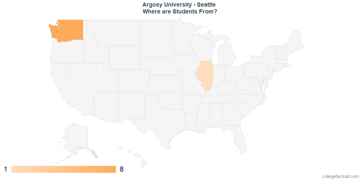What States are Undergraduates at Argosy University - Seattle From?