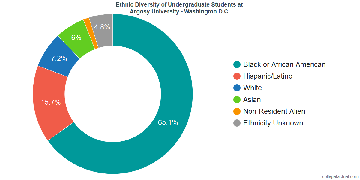 Ethnic Diversity of Undergraduates at Argosy University - Washington D.C.