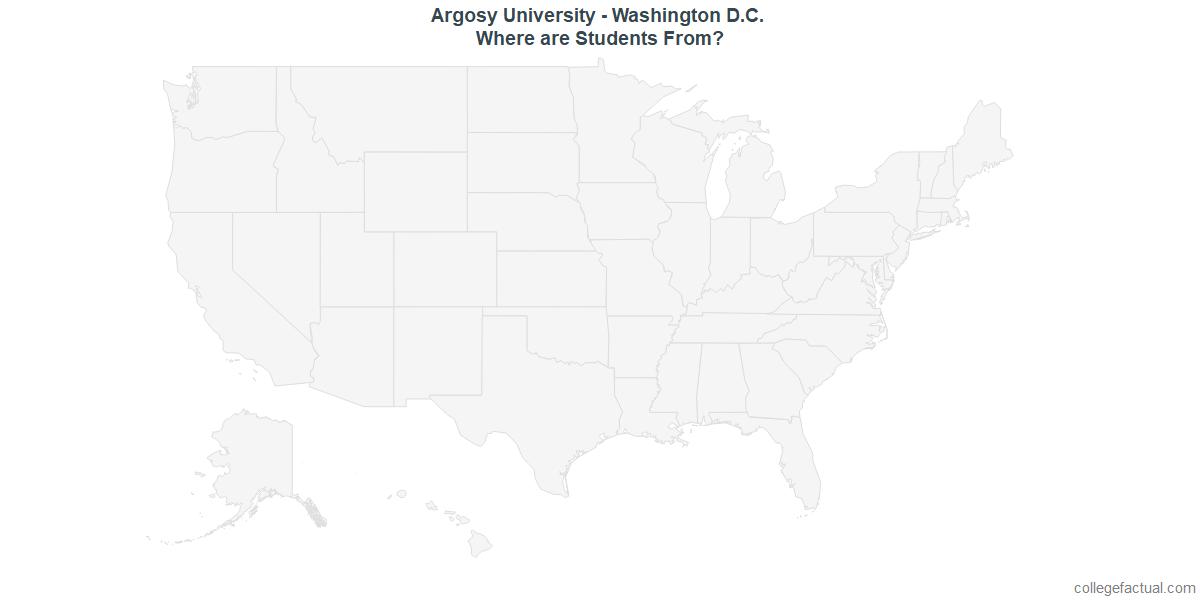Undergraduate Geographic Diversity at Argosy University - Washington D.C.