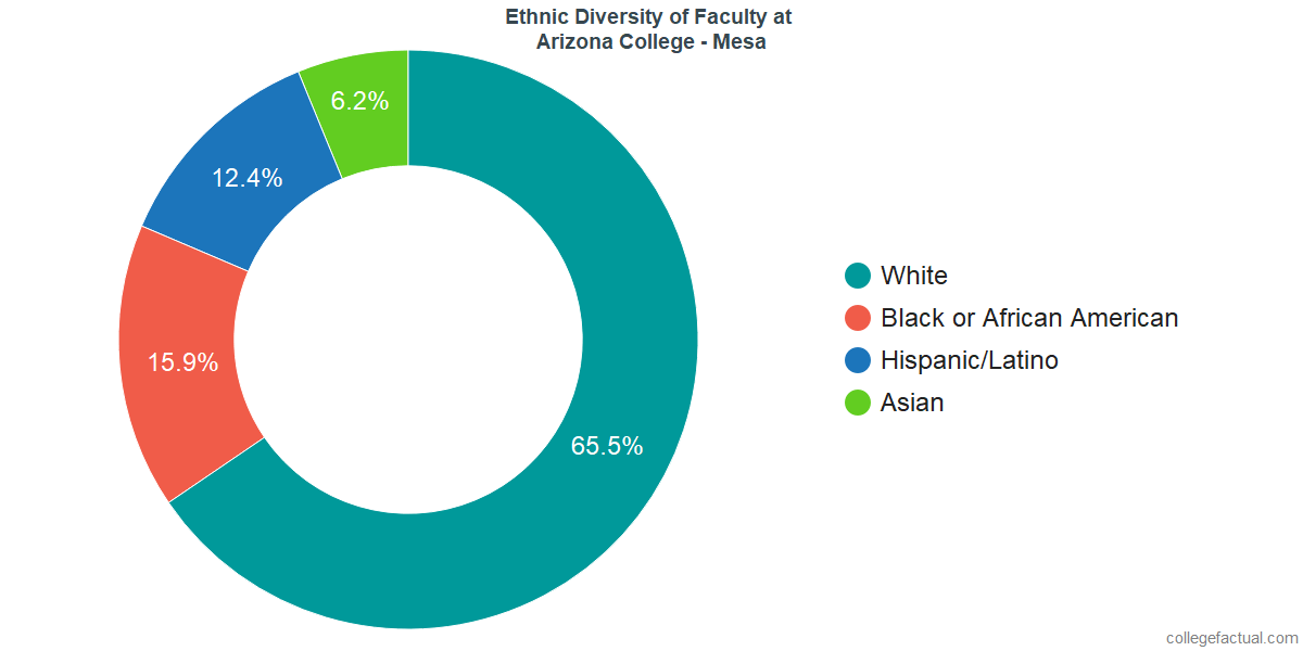 Ethnic Diversity of Faculty at Arizona College - Mesa
