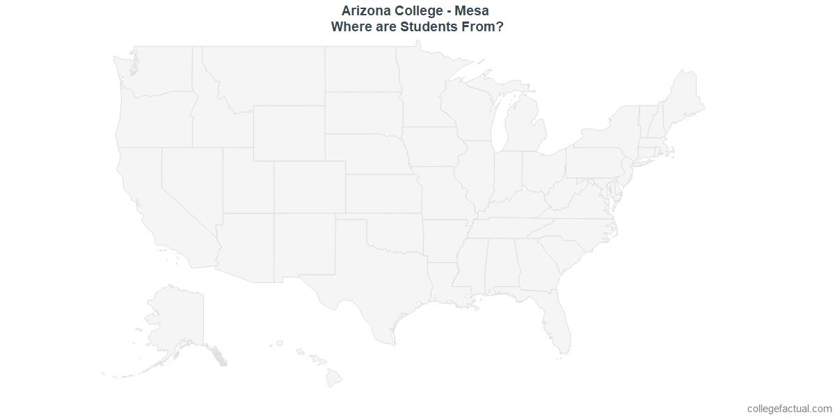 Undergraduate Geographic Diversity at Arizona College - Mesa