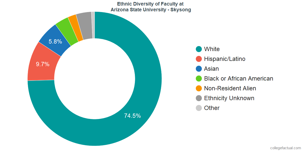 Ethnic Diversity of Faculty at Arizona State University - Skysong
