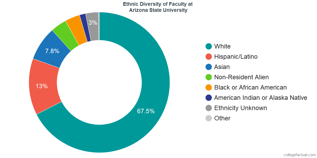Ethnic Diversity of Faculty at Arizona State University