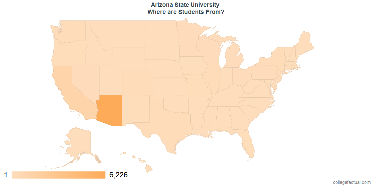 What States are Undergraduates at Arizona State University From?