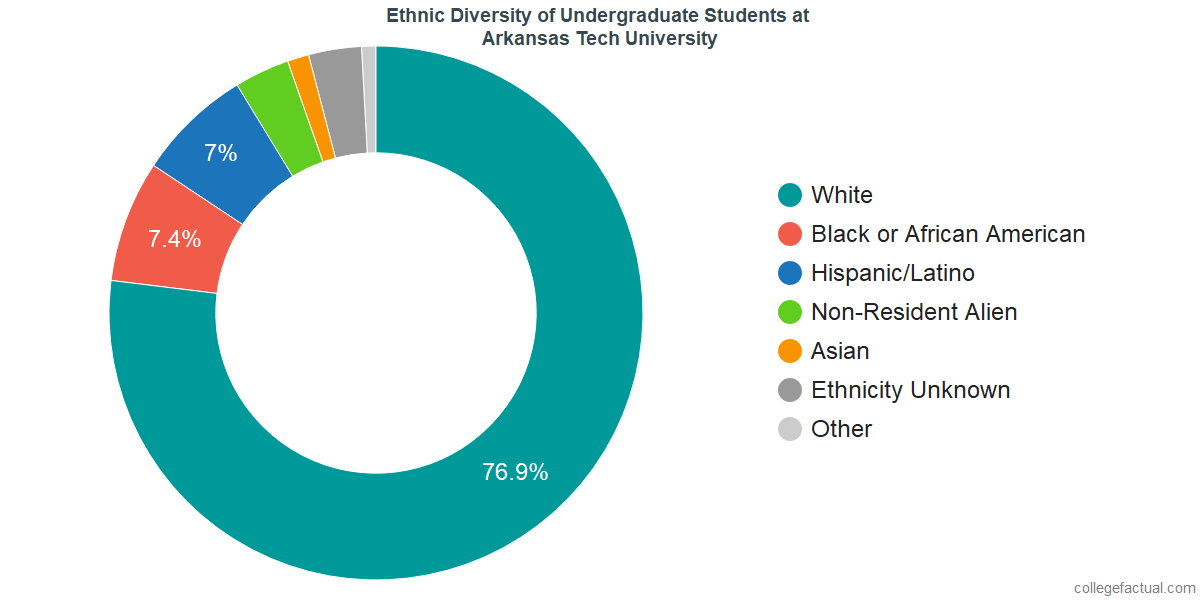 Ethnic Diversity of Undergraduates at Arkansas Tech University