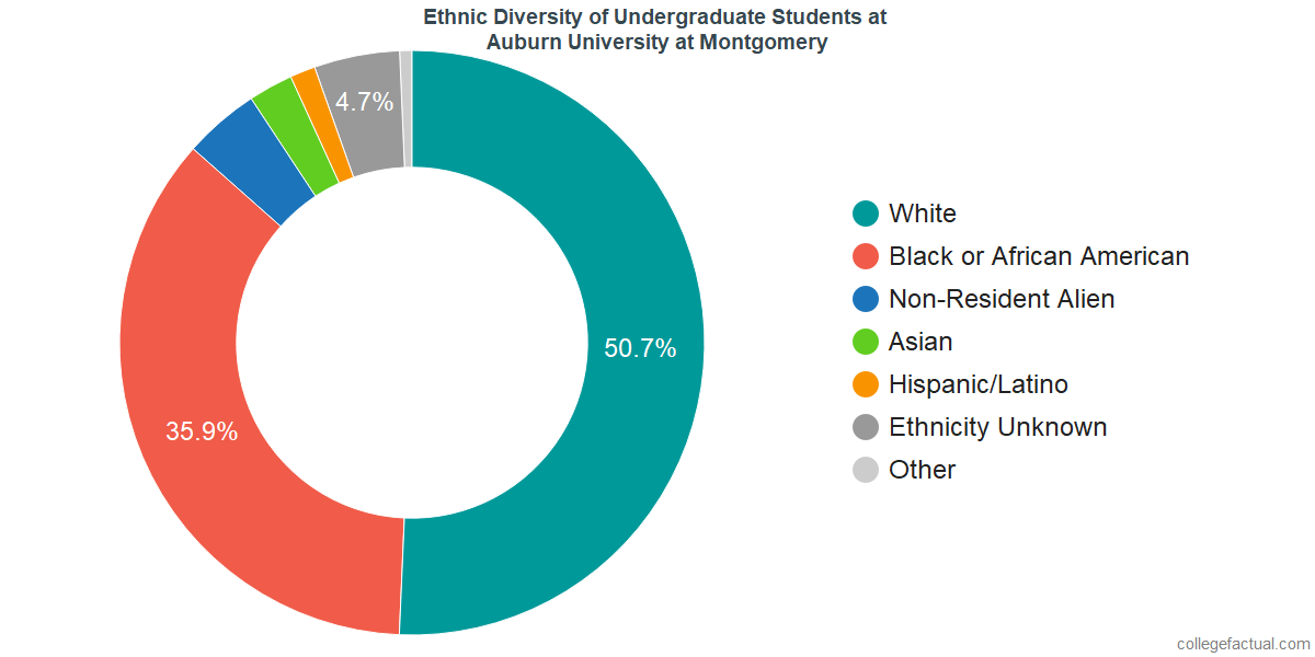 Ethnic Diversity of Undergraduates at Auburn University at Montgomery