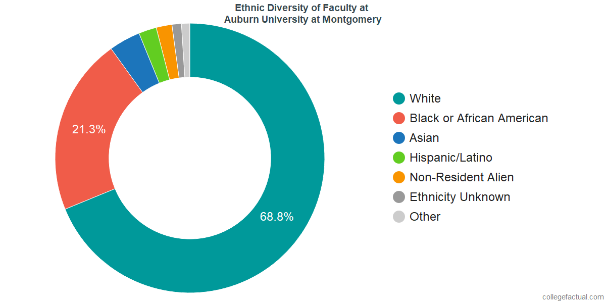 Ethnic Diversity of Faculty at Auburn University at Montgomery